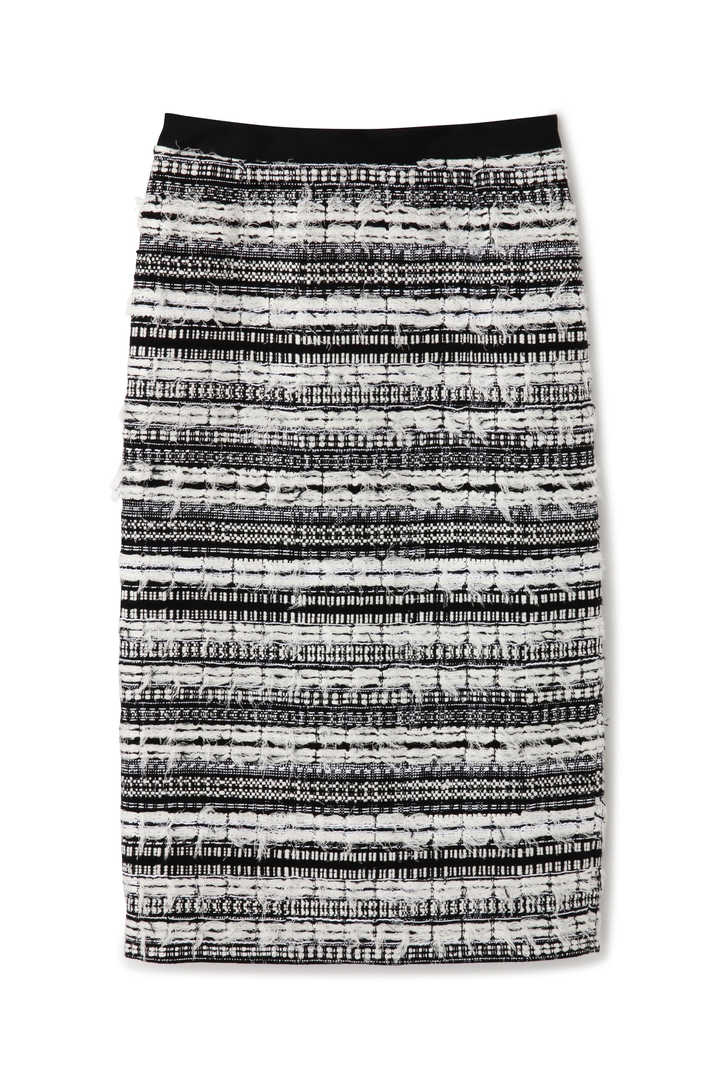 《BLACK LABEL》モノトーンツィードスカート