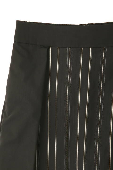 コットンシルクストライプスカート