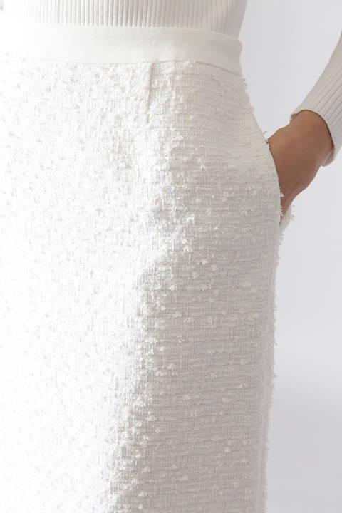 ペーパーヤーンツイードタイトスカート