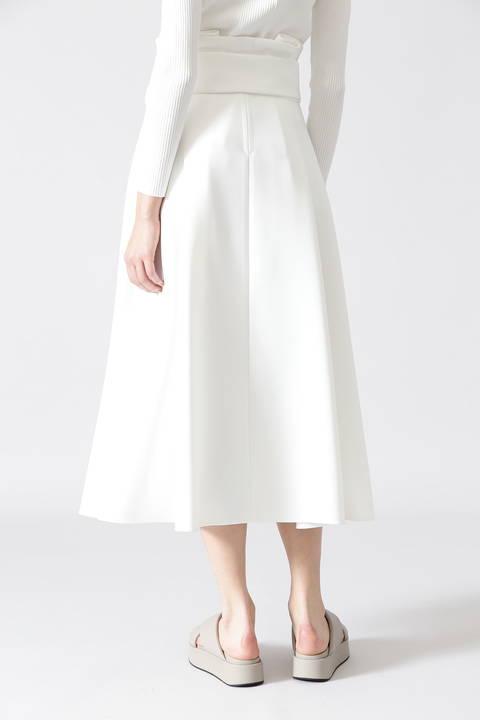 ミドルジョーゼットフレアースカート