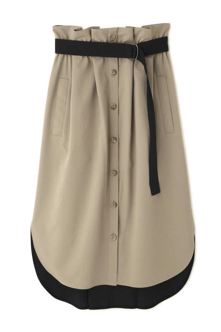 スパンツイルバイカラースカート