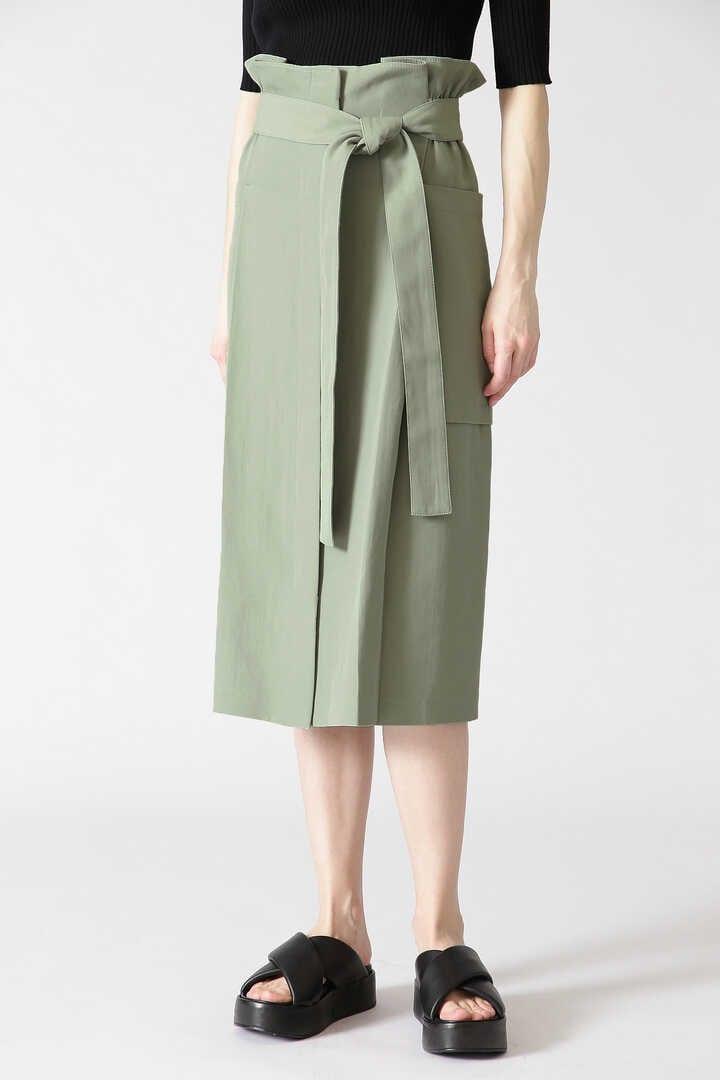 ドライスモーキーリボンベルト付きスカート