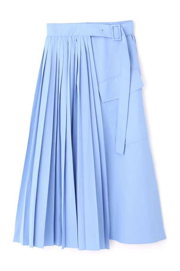 プリーツドッキングスカート