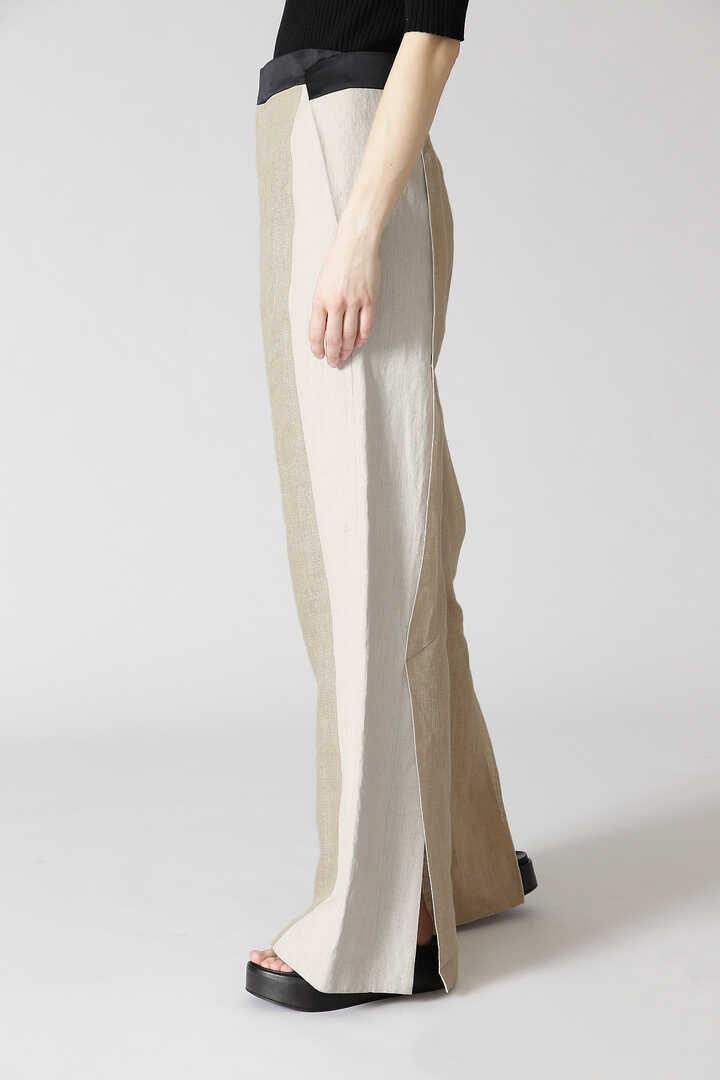 グランプリント麻ワイドパンツ
