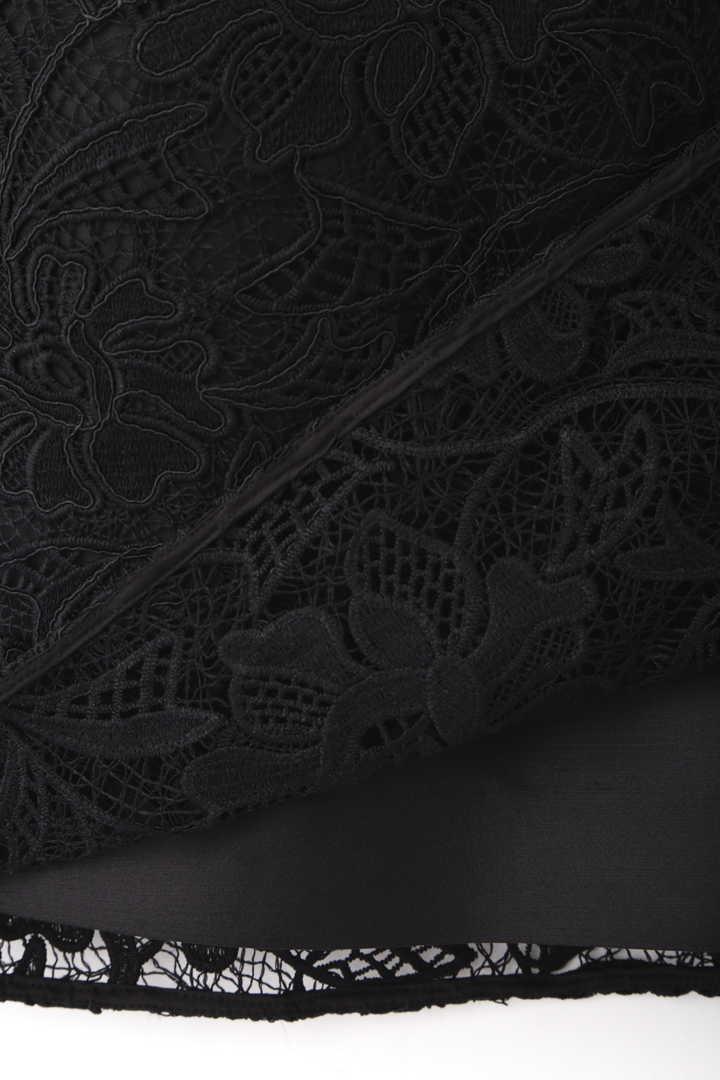 《BLACK LABEL》ウーリーヤーンコードレースワンピース