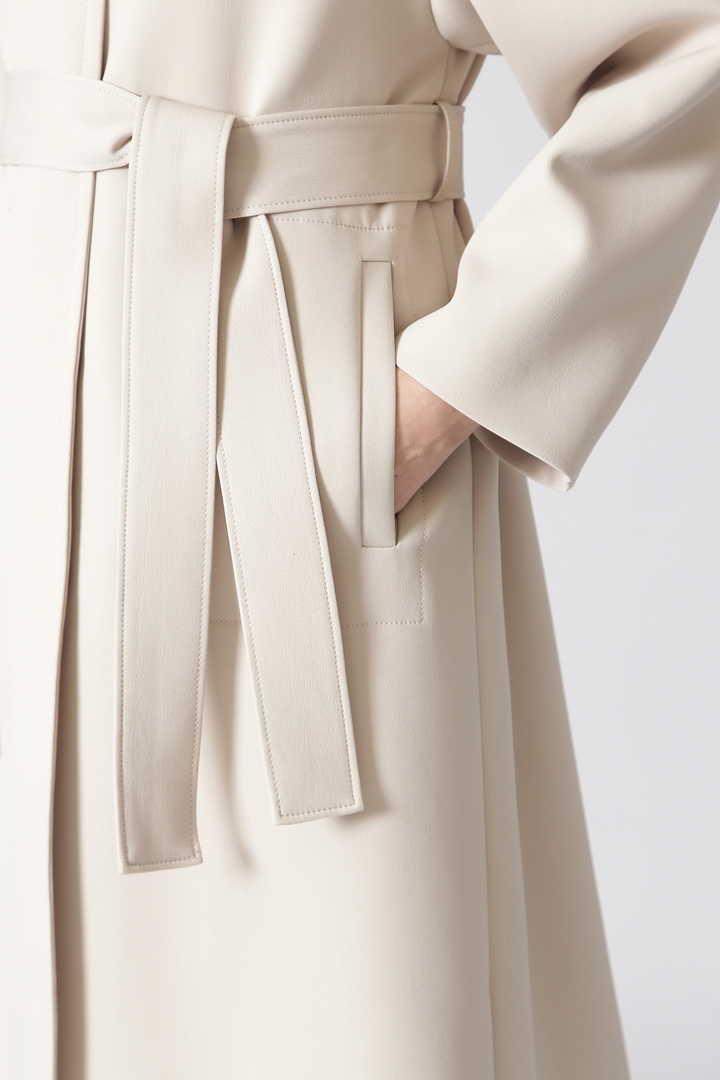 トリプルクロスノーカラーコート