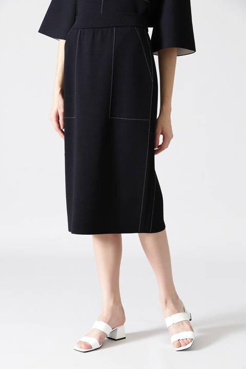 ステッチジャガードニットスカート