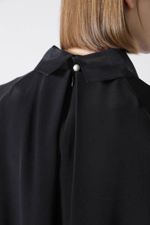 ピュアシルクブラウス(BLACK LABEL)