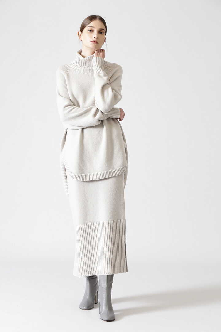 ウールカシミヤニットスカート