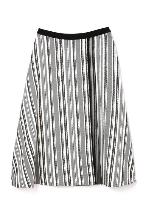 ランダムストライプフレアースカート
