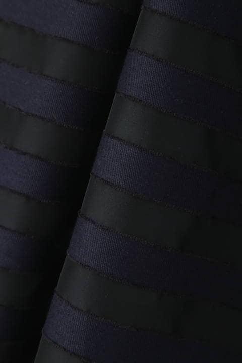 《BLACK LABEL》オーガンボーダーアシメトリーウエストスカート