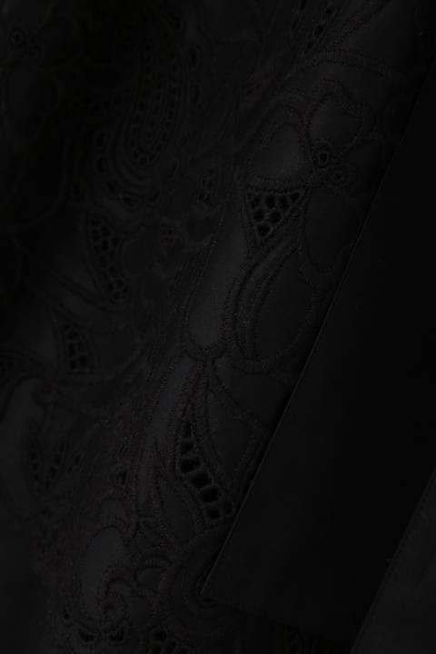 カットワークレースリボンベルト付きスカート