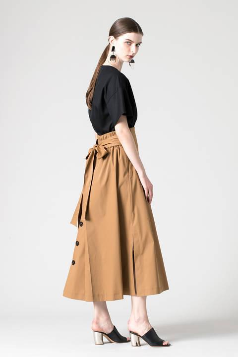 テクノベンタイルバックリボンスカート