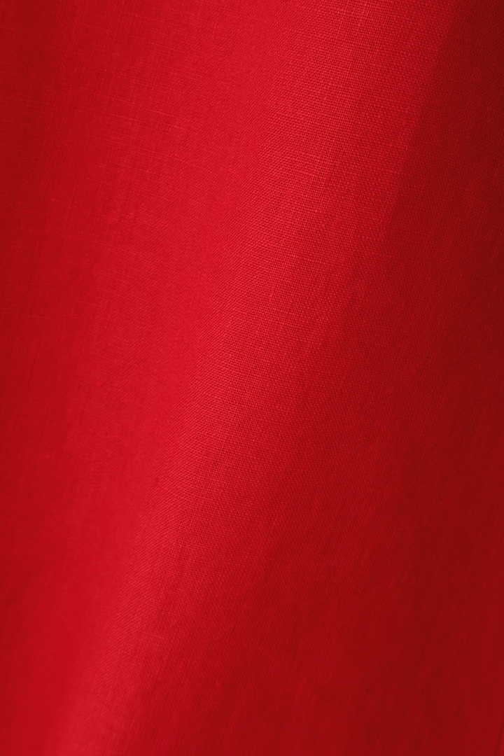 ピュアリネンカマーベルト付きフレアースカート