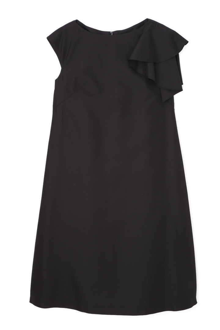 《BLACK LABEL》シルクシャンブレーアシメトリースリーブワンピース