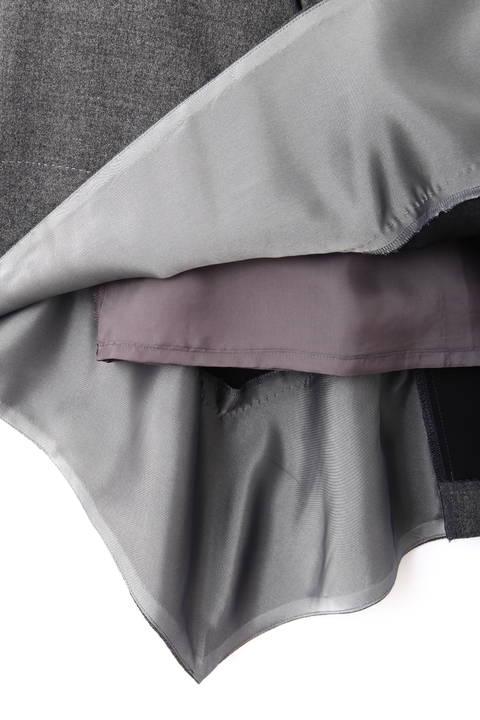 ウールアムンゼンイレギュラーヘムスカート