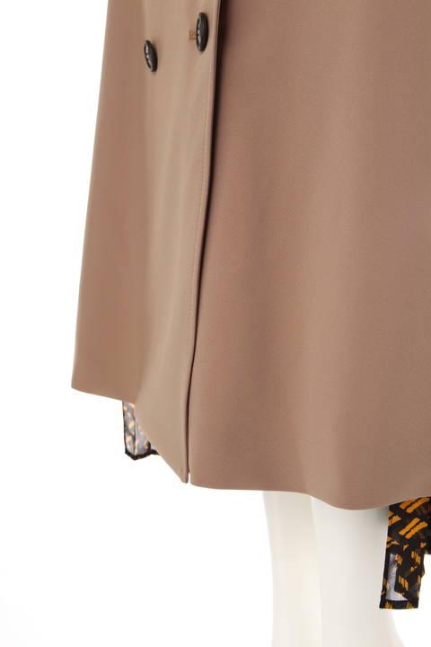 コンビネーションプリントサイド切り替えスカート