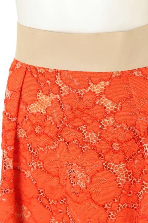 ソレイユフラワーレーススカート