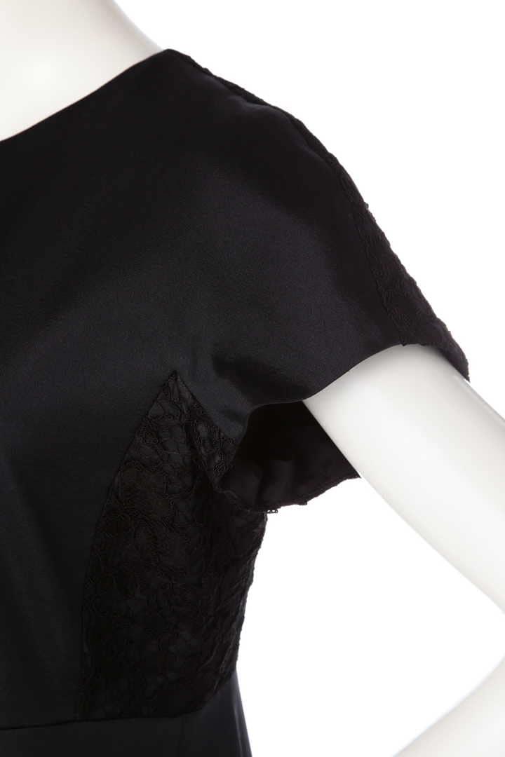 《BLACK LABEL》Solstissフラワーコードレース ハーフスリーブワンピース