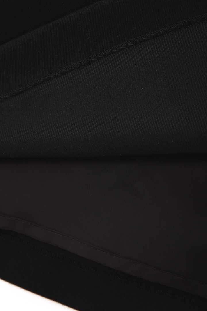 サキソニーストレッチワイドベルト付きワンピース(ジャンパースカート)
