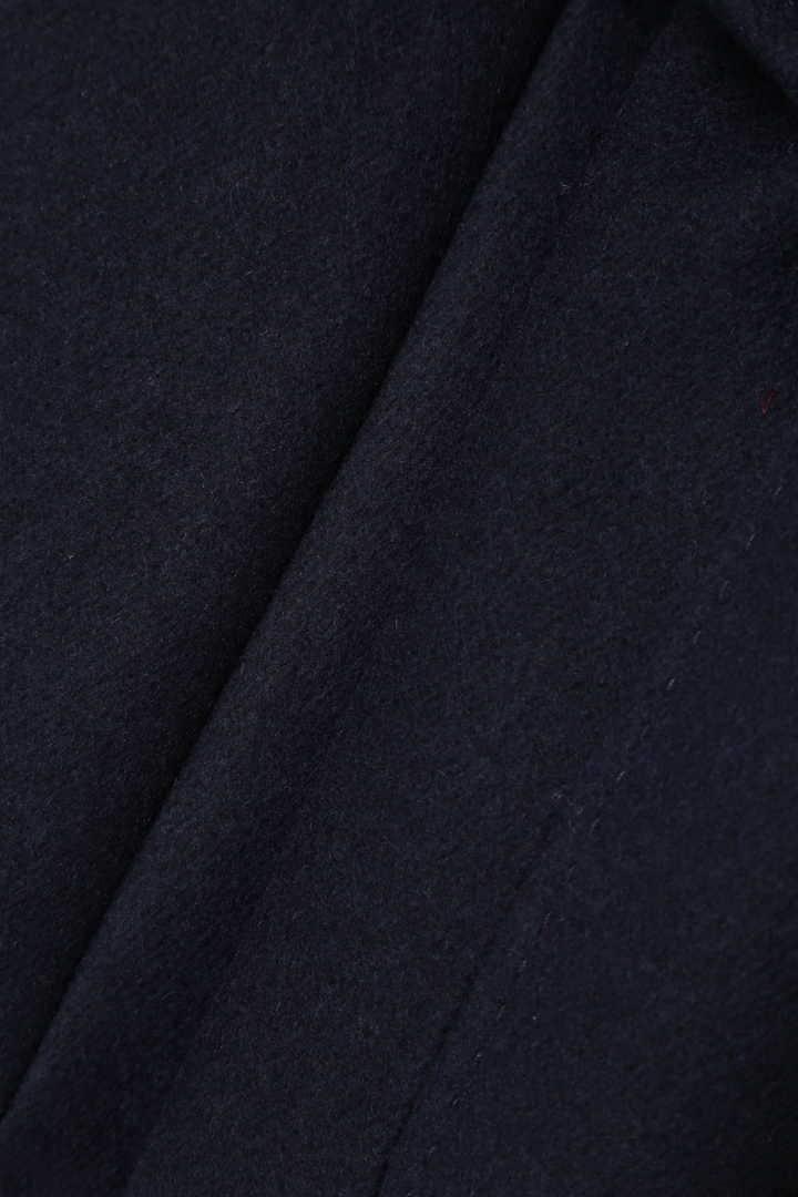 コンパクトメルトンベルト付きノーカラージャケット