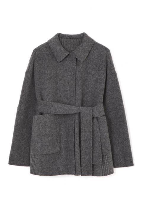 リバーグレンチェックジャケットコート
