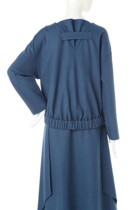 ウールスムース裾ギャザーカットソー
