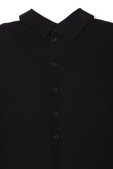 ソフトビス襟付きニットプルオーバー