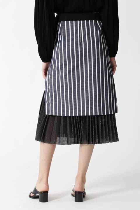 シャンブレーストライプスカート