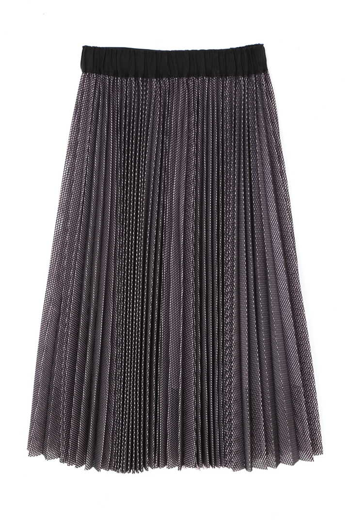 バイカラーメッシュスカート