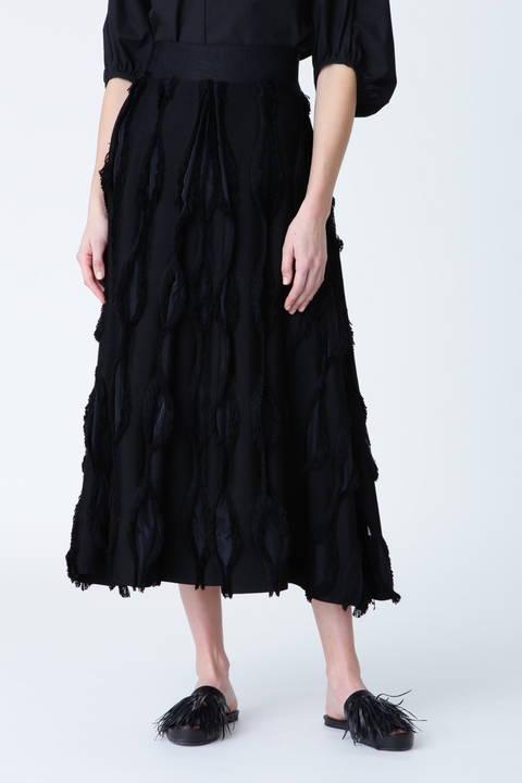 ウェービーカットジャガードAラインスカート