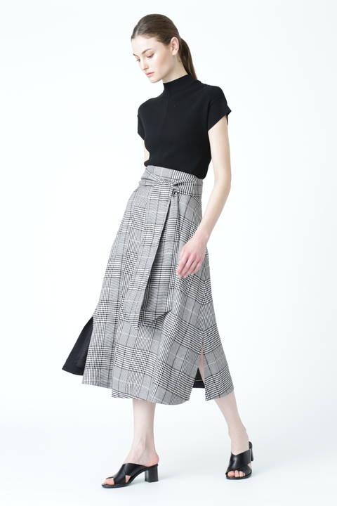 モノトーングレンチェック スカート