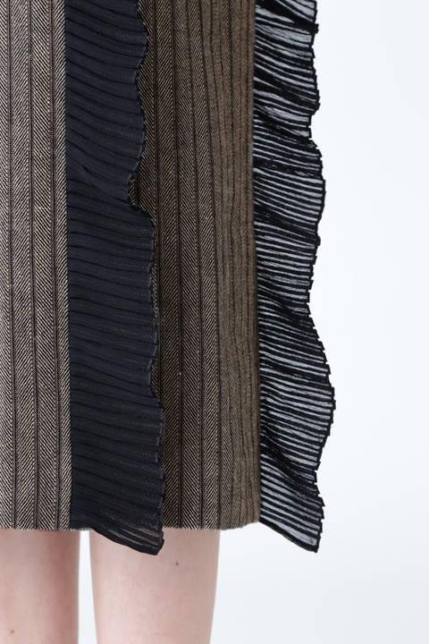 サーブルヘリンボーンスカート