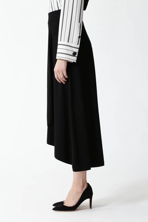 ストレッチヴィスプレーティングニットスカート