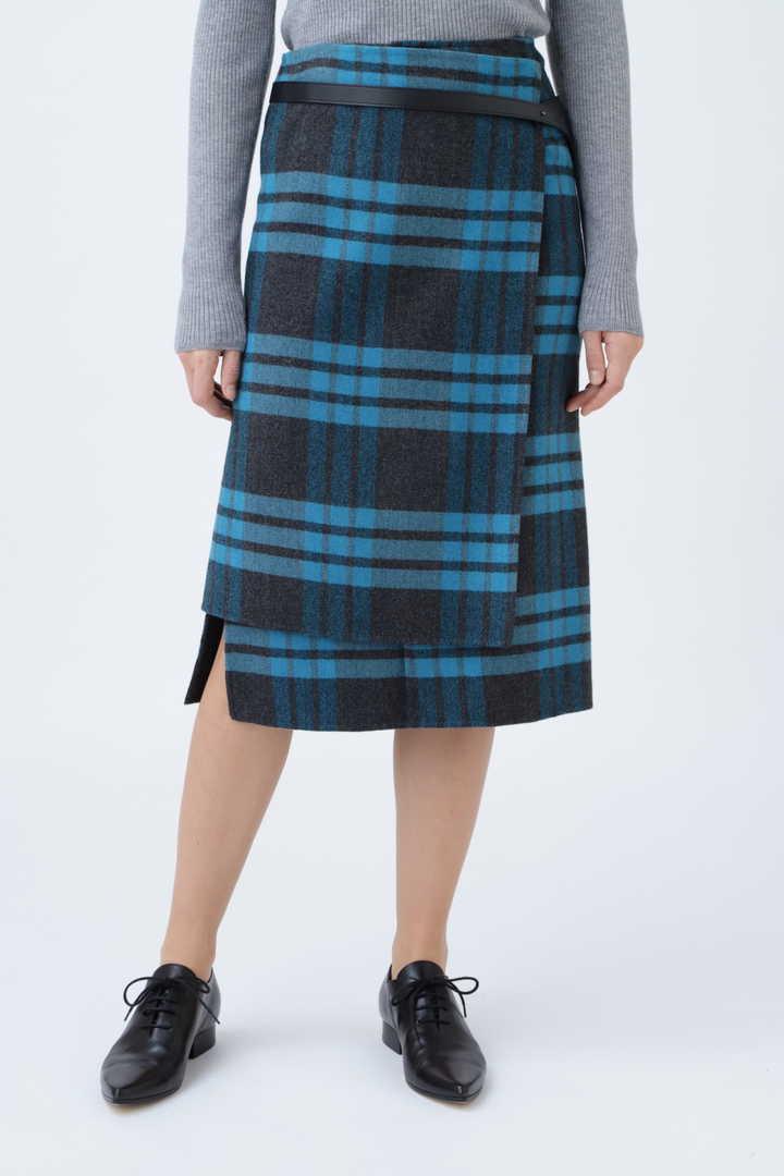 リバービッグチェックタイトスカート