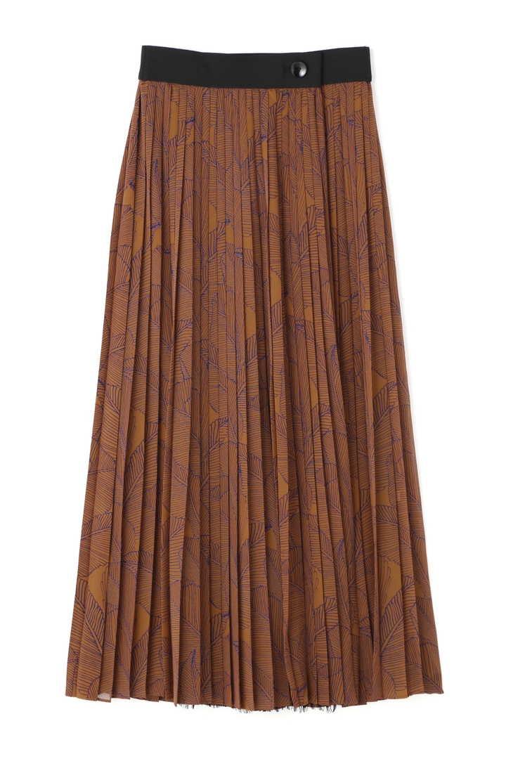 レイヤードプリントスカート