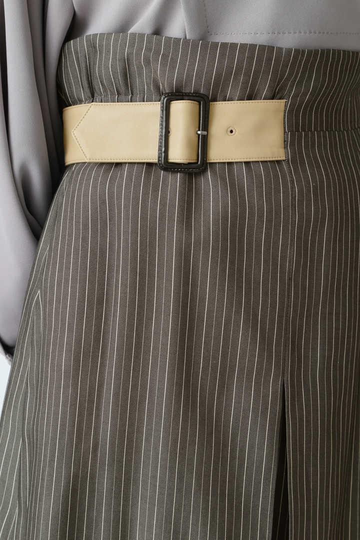 ツイルストライプアシメトリーヘムスカート