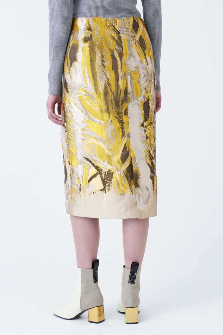 ペインティングジャガードスカート