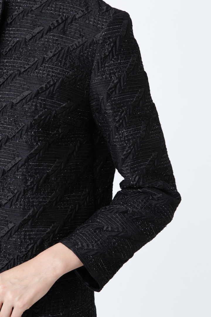 《BLACK LABEL》ラメフローティングジャガードノーカラージャケット