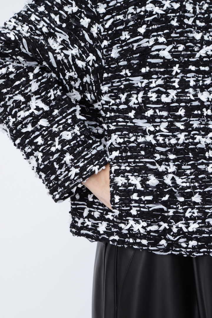 《BLACK LABEL》マリアツイードノーカラージャケット