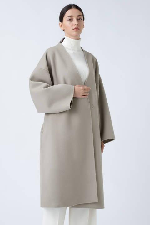 ルチアーナリバーノーカラーコート