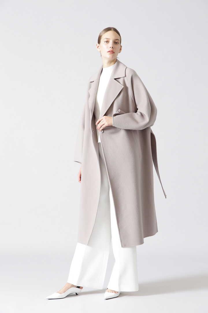 ルチアーナリバーベルト付きコート