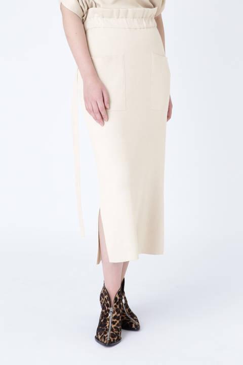 コットンシルクタイトスカート
