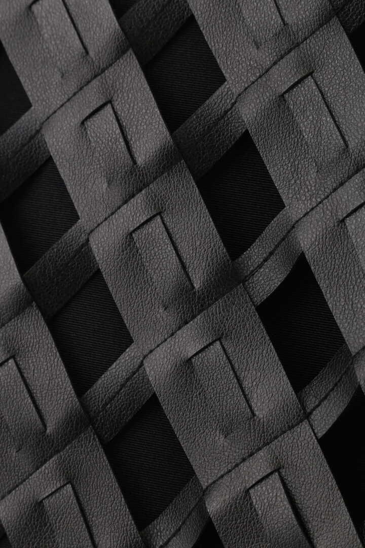 《LE PHIL》フェイクレザーメッシュスカート