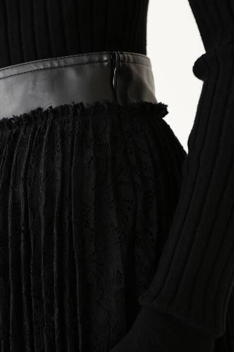 【先行予約 8月下旬-9月上旬入荷予定】レースプリーツスカート
