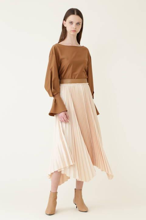 《LE PHIL》ヴィンテージサテンプリーツスカート