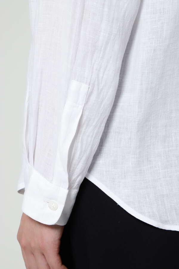 WOMEN'S LINEN PLAIN SHIRT