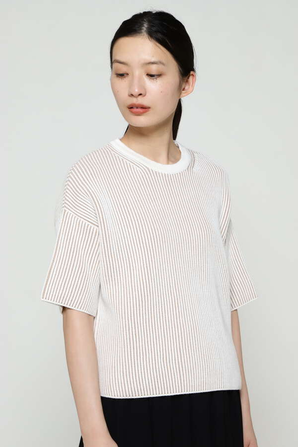 WOMEN'S CONTRAST RIB COTTON
