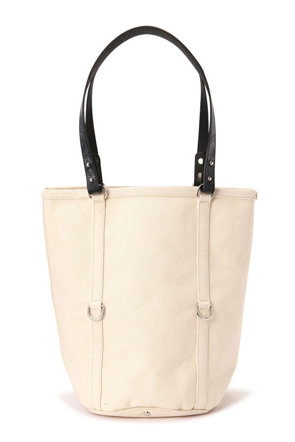 【GLENROYAL】COTTON CANVAS LEATHER TOTE