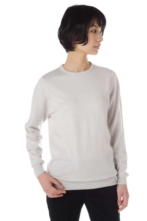Women's Fine Merino Wool Long Sleeve Crew Neck
